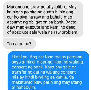 Assume Obligation Car Loan